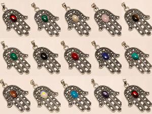 Amazing-Wholesale-Lot-925-Silver-Plated-10Pcs-Pendant-Gemstone-Jewelry