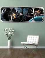 STAR WARS   BATTLE of the DEATH STAR  !!!    GIANT WINDOW VIEW   PRINTED POSTER