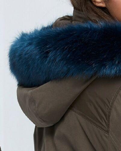 Lane Bryant Blue Faux Fur Trimmed Parka Winter Jacket Coat Plus Size 14//16 1X
