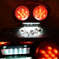 Motorcycle Led Tail Brake Light Custom License Plate Holder Relocator Cafe Racer