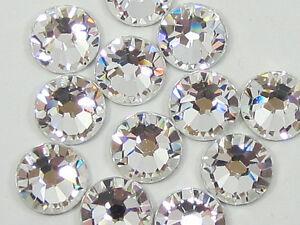 500-Gross-SS10-3mm-Crystal-Clear-Flat-Back-Hot-Fix-Iron-On-Rhinestone-Beads-USA