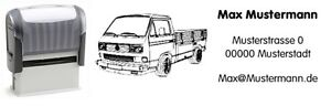 VW Bus T3 - Pritsche - Motiv-Automatik-Stempel - mit Wunschtext