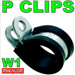 5-x-16mm-Mikalor-Zingue-Metal-EPDM-Caoutchouc-Double-P-Pince-Essence-Tuyau-Cable
