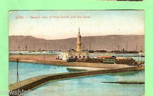 A-EGYPT-MILITARY-POSTCARD-1918-ON-ACTIVE-SERVICE-PORT-TEWFIK-SUEZ-CANAL