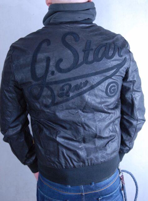 G Star Lederjacke aus Viskose, schwarz, Größe XL, Neu mit Etikett !
