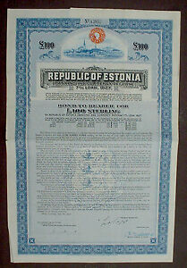 7-Republic-of-Estonia-100-Sterling-Bond-to-Bearer-1927-uncancelled-coupons