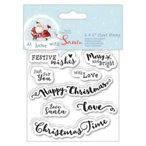 Christmas Sentiments For Cards.Details About Papermania At Home With Santa Christmas Sentiments Clear Stamp Card Making Craft