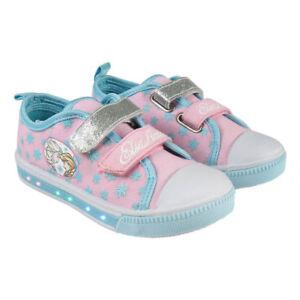 Details zu Sneaker Disney die Eiskönigin Elsa LED Licht Schuhe Sportschuhe Laufschuhe Neu