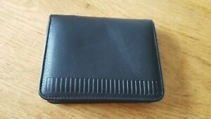 Bill Amberg Card Holder. Black Leather Wallet