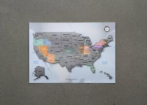 Personalized Scratchoff Us Map The United States Of America A - Scratch off us map