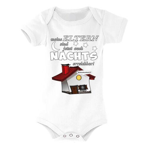 """Bambini-babybody modello /""""i miei genitori sono ora anche di notte.../"""" Ragazzo Ragazza"""