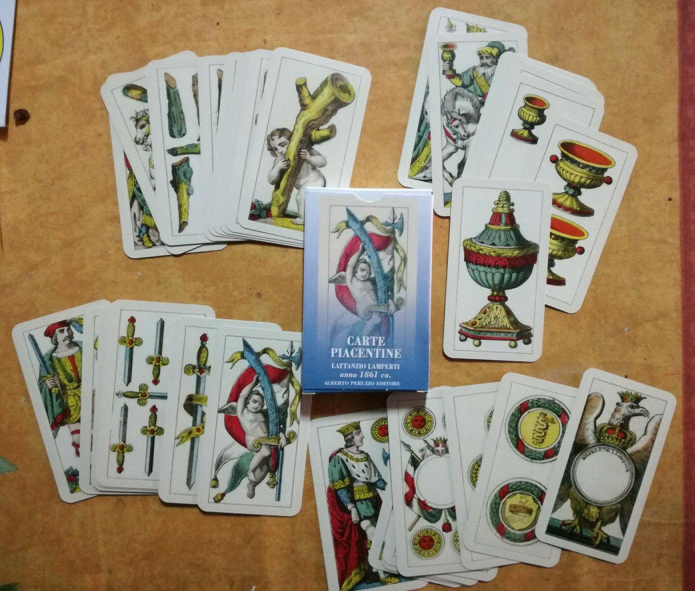 Lattanzio Lamperti CARTE PIACENTINE 40 gioco 1861 Piacenza playing cards reprint