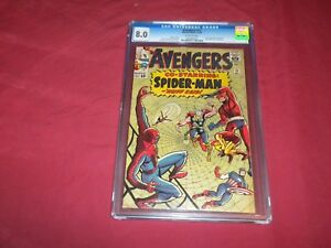 Avengers-11-marvel-1964-silver-age-CGC-8-0-comic-SPIDER-MAN-Lots-of-keys-up