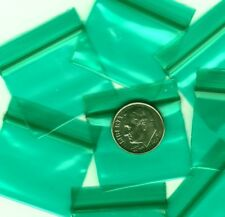 100 Green Apple Baggies 125 X 1 Mini Zip Bags 12510 Plastic Reclosable