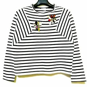 Zara-Trafaluc-Striped-Longsleeve-Top-With-Floral-Embellishments