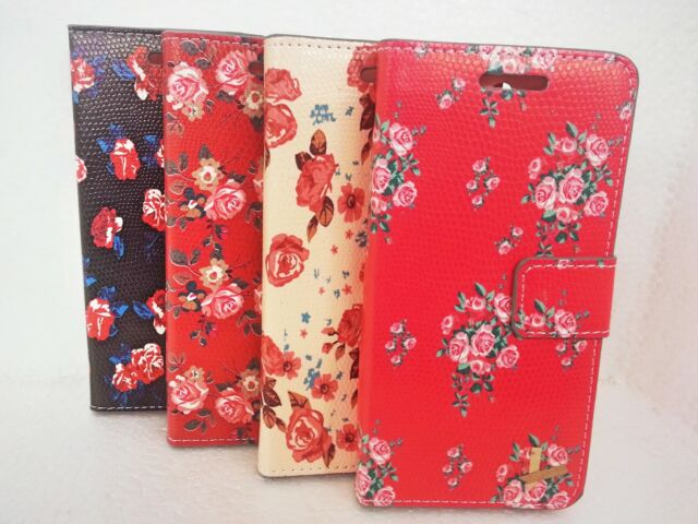 Floral Flower Flip Leather Card Wallet Case Cover Apple Samsung Htc Sony phones