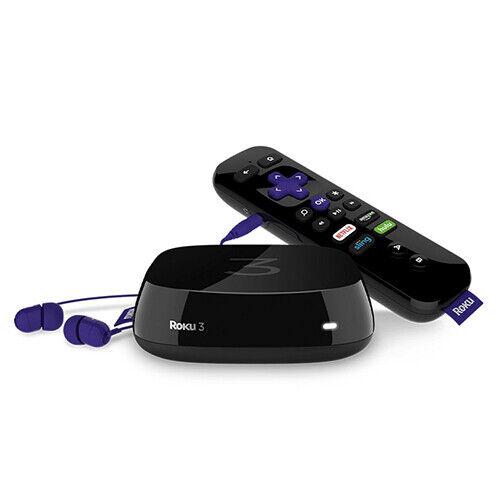 Roku 3 Wireless Streaming Media Player (Black) media player roku streaming wireless