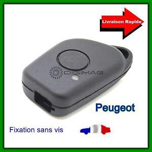 Coque-Telecommande-Plip-Bouton-Cle-Pour-Peugeot-406-407-605-607-sans-vis