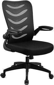 COMHOMA Chaise de Bureau Fauteuil Pivotant avec Siège 62 x 61 x 97 cm, Noir