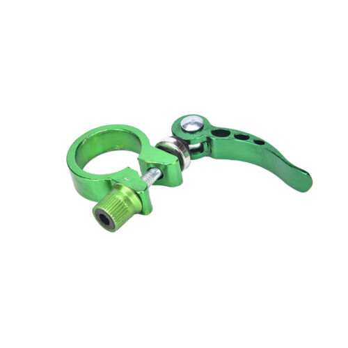 Alloy Cycling Bike Quick Release Seat Post Bolt Binder Clamp 28.6//31.8mm YN