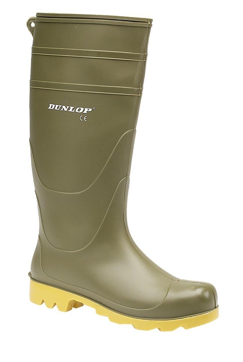 Dunlop Universale men Resistente lungo Stivali Wellington green PVC