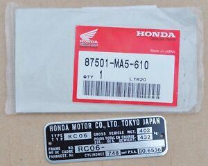 Honda-Frame-Plate-for-Honda-CB750-RC06-Models-87501-MA5-610
