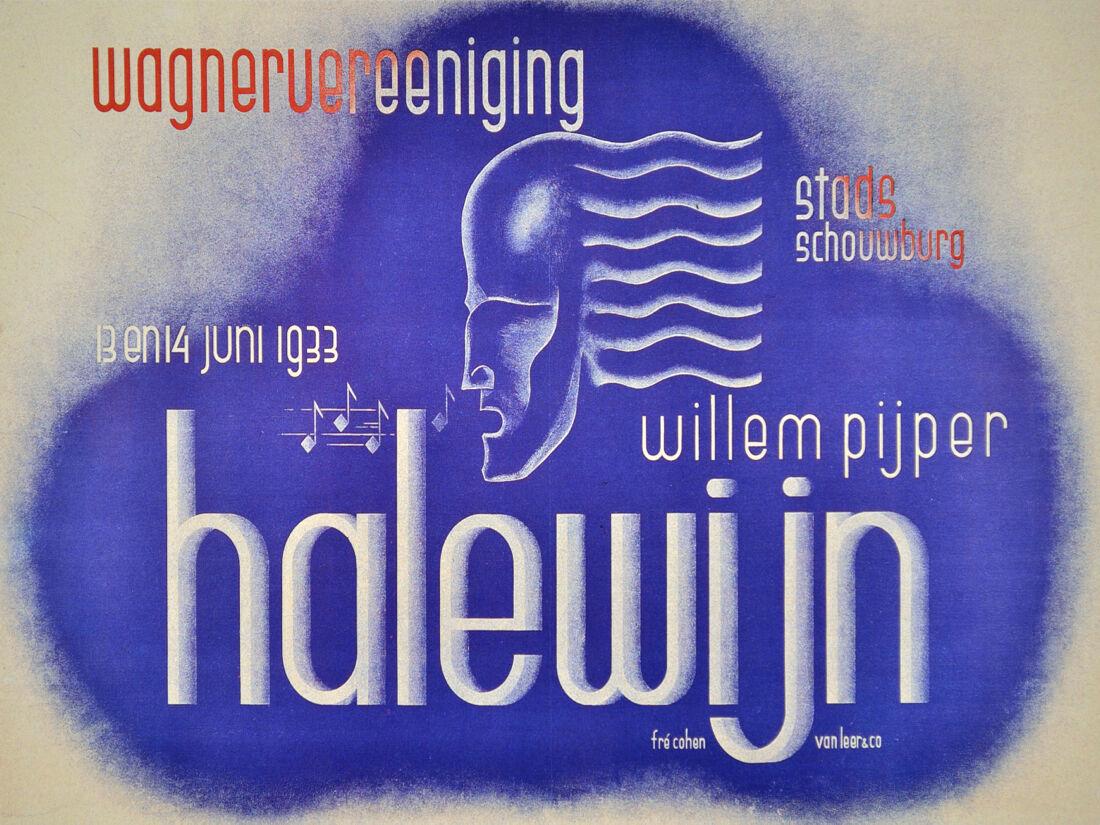 Wagner Vereniging Halewijn German Decor Poster. Home Graphic Art Design. 4071