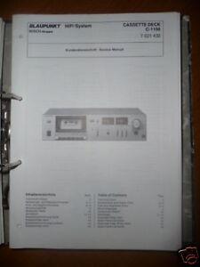 Anleitungen & Schaltbilder Bescheiden Service Manual Blaupunkt C-1100 Cassetten Deck,original