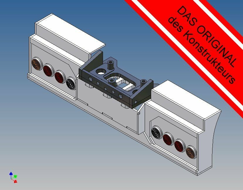 Hs2f4-Posteriore Paraurti per TAMIYA CAMION 1:14 2-Camion per 2x4 Fechtner luci
