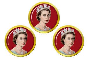 Jeune-Reine-Elizabeth-II-Marqueurs-de-Balles-de-Golf