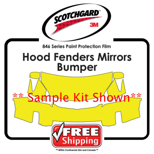 Hood Bumper Fenders 3M 846 Scotchgard Paint Protection Film Kits for Nissan
