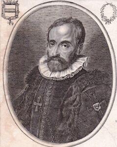 Portrait XVIIe Maximilien III d'Autriche Habsbourg Grand Maître Ordre Teutonique