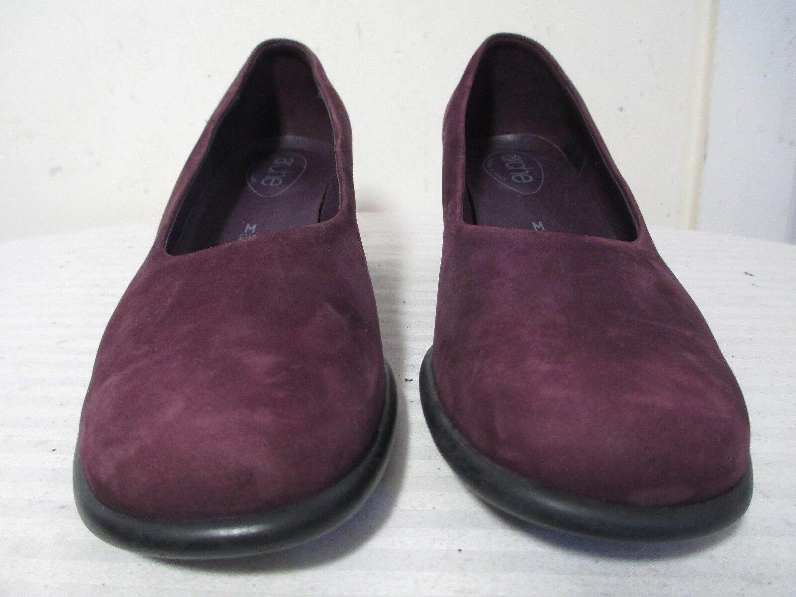 Arche bombas de cuero cuero de nobuck púrpura Tacones Zapatos 7 1 2 Hecho En Francia c5fb94