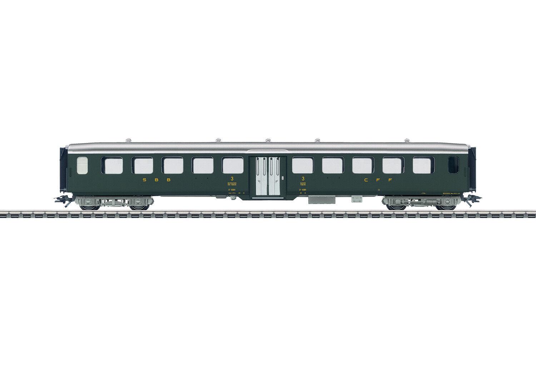 43382 Leichtstahl-Sitzwagen Delle SBB 3. Classe   Nuovo Scatola