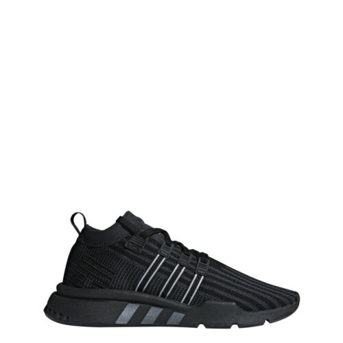adidas Mens EQT SUPPORT MID ADV PK Black//Carbon//Solar Yellow B37456