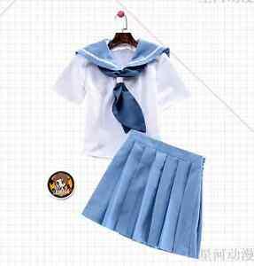 Kill-La-Kill-Mankanshoku-Mako-Blue-Japanese-Uniform-Sailor-Suit-Cosplay-Costume