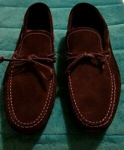 Hugo Boss Deep Blue Moccasins Driver Suede Loafers Size 10.5 US Made ... 6db345c834ae8