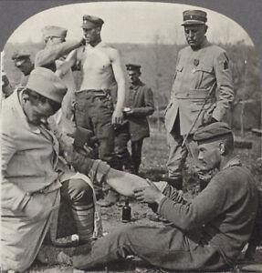 G.mondiale 1 Stereoview. Alliée Soldats Fixation Accélère Le Blessures De Their à Tout Prix