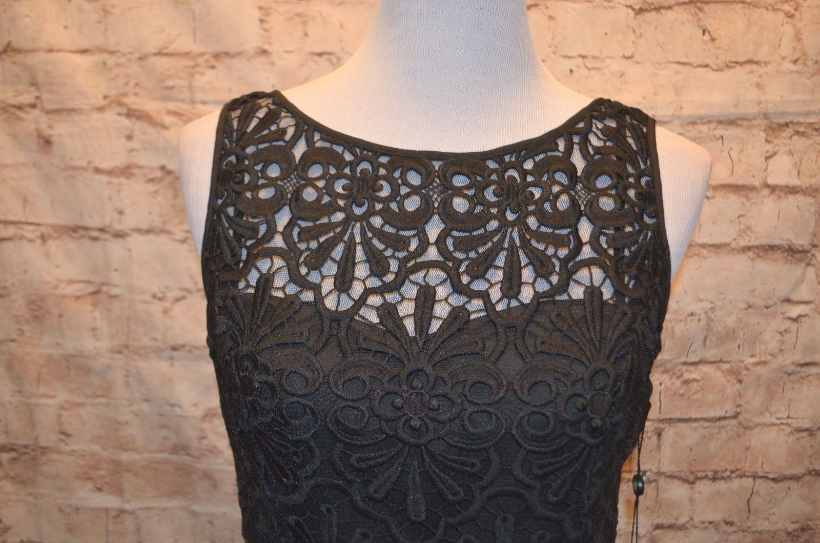 2c27022a7d7 ... Modcloth Famed to Fascinate dress NWT 6 6 6 Adrianna Papell Peplum bl  crochet tulle 96b5ec ...