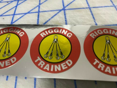 Funny RIGGING TRAINED Hard Hat 4 Welding Helmet Stickers Construction Decal