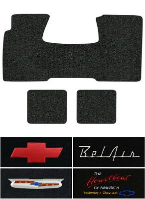 1971-1973 Cadillac Eldorado 1pc Front /& 2pc Rear Loop Carpet Logo Floor Mat