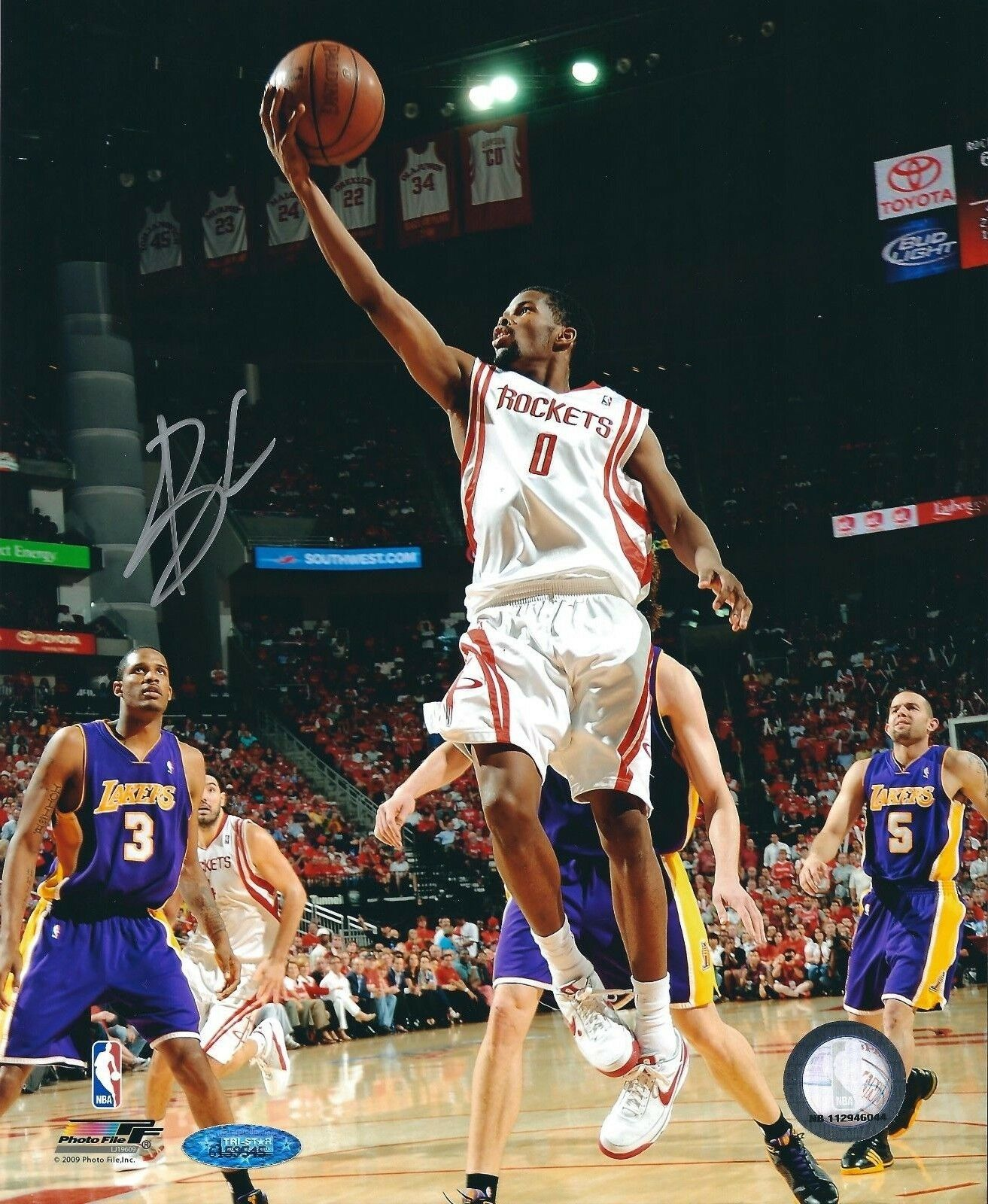 Aaron Brooks Signed Houston Rockets Basketball 8x10 Photo Tri-Star 6159545