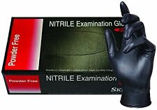 SKINTX BLK50010-M-BX Nitrile Medical Grade Examination Gloves, 5 mil - 5.5 mil,