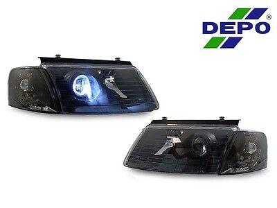 DEPO 98-00 VW Passat B5 Black Xenon HID Projector Headlights + Corner Lights New