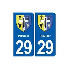 29 Plouider blason autocollant plaque stickers ville arrondis