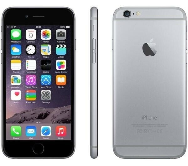 iPhone 6, GB 16, sort