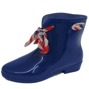 LADIES-NAVY-ANKLE-GARDEN-WELLIE-WELLINGTON-WALKING-CHELSEA-BOOTS-SHOES-SIZES-3-8