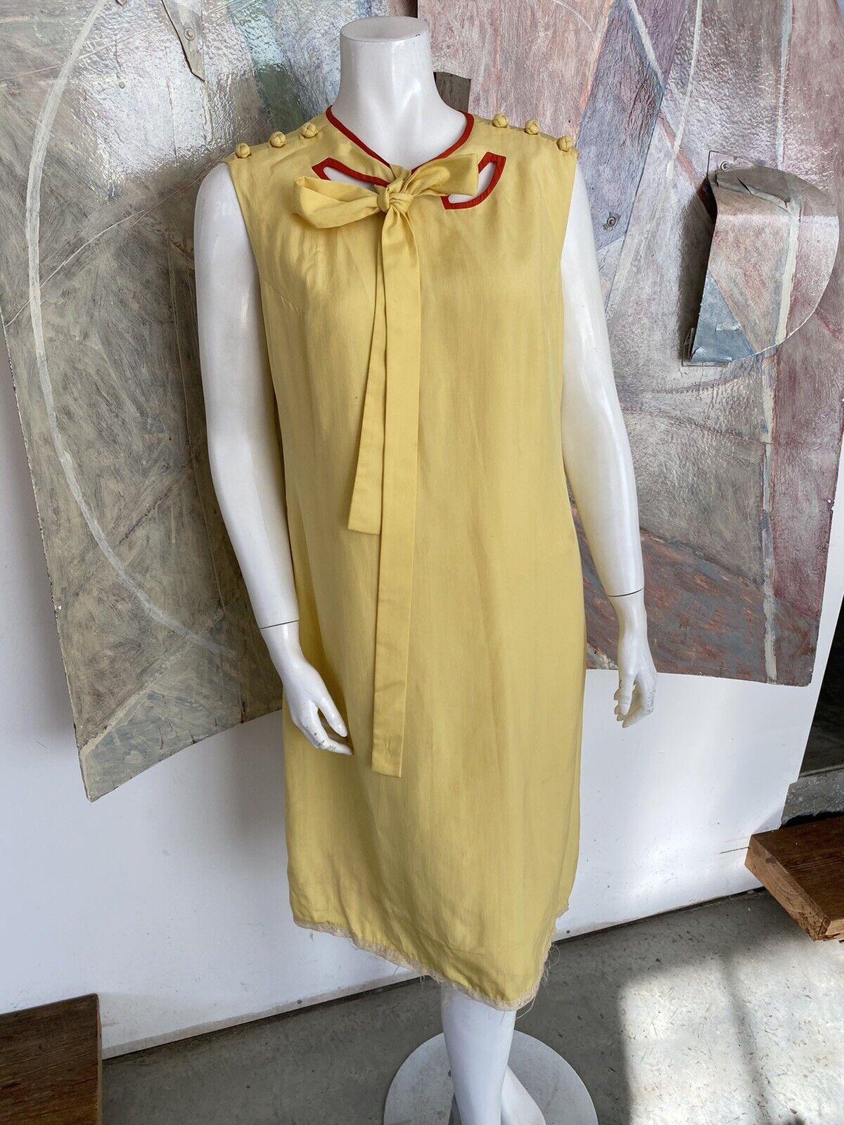 Vintage Alice John Rogers Yellow Silk Pussybow Sh… - image 12