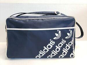 Vintage-Adidas-Small-Duffle-Shoe-Bag-Blue-Vinyl