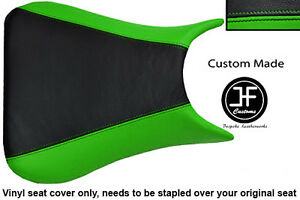 L-GREEN-BLACK-VINYL-CUSTOM-FOR-KAWASAKI-NINJA-ZX6R-636-A1P-98-03-SEAT-COVER-ONLY